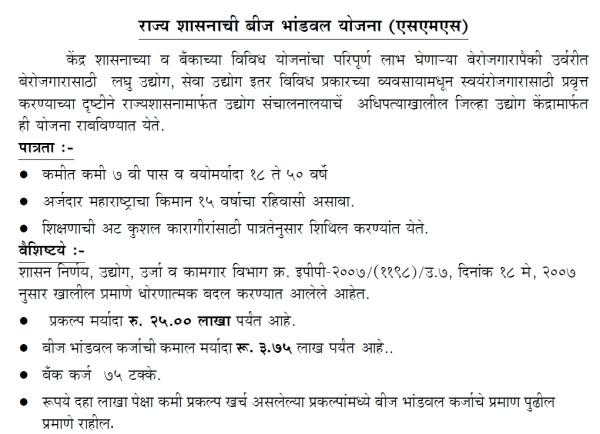 Bija Bhandaval Karja Yojana