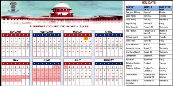 2018 भारत छुट्टियां का कैलेंडर