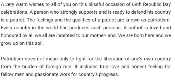 Speech on republic day in english