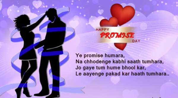 Promise Day image with shayri