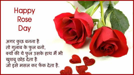 hindi shayari on rose day