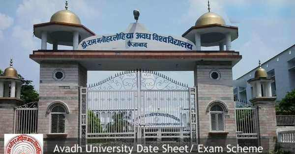 Avadh University Exam Scheme 2018