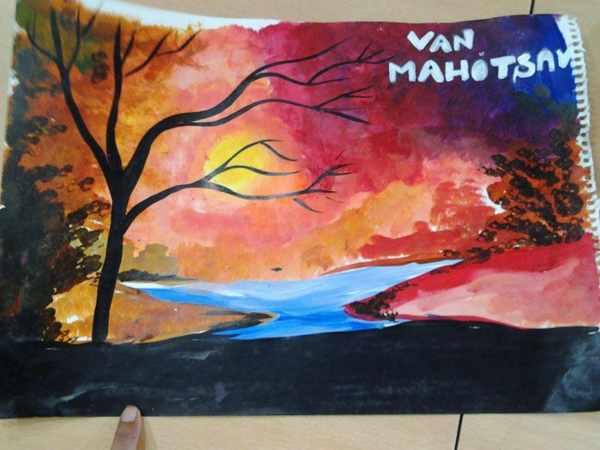 Van Mahotsav Poster making