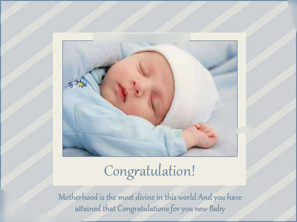 New Born Baby Wishes in Hindi to Parents with Images for