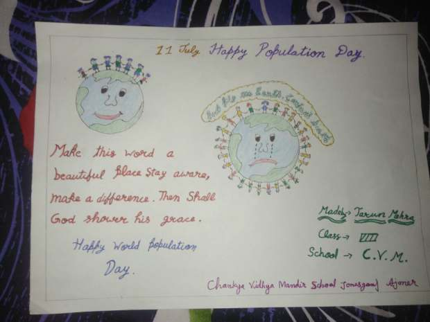Drawing on world population day