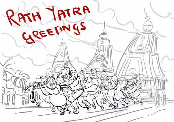Jagannath rath yatra drawing