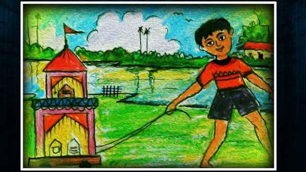 Rath yatra drawing