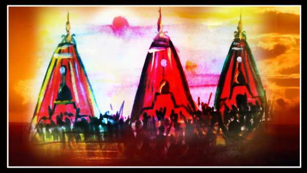 Rath Yatra Drawing Pictures