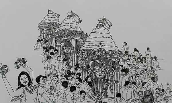 Rath yatra drawing photos