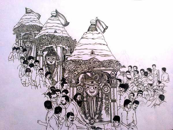 Rath yatra drawings