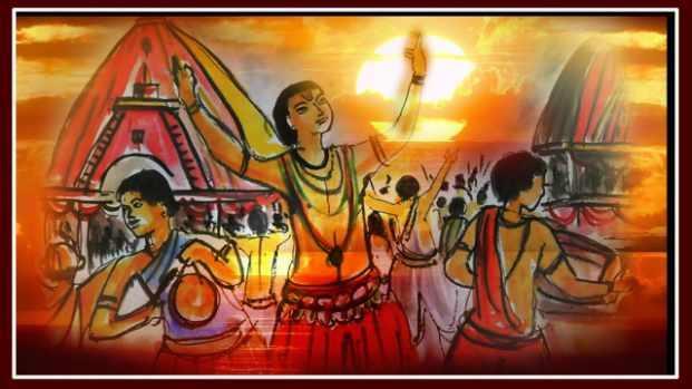 Rath yatra pencil drawing