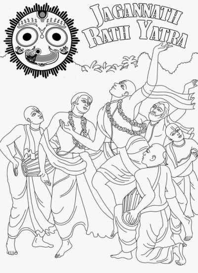 Rath yatra sketch