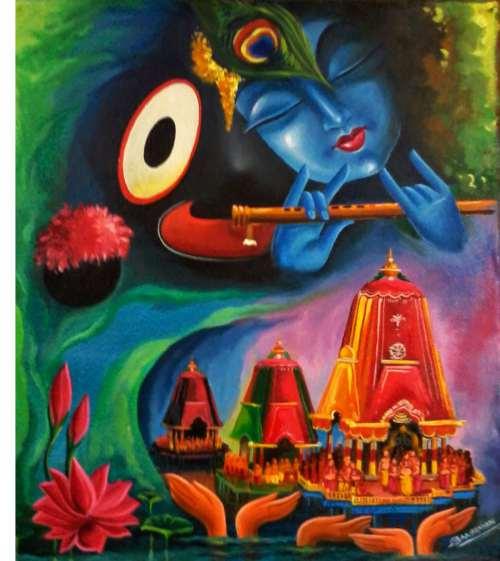 Rathyatra drawing