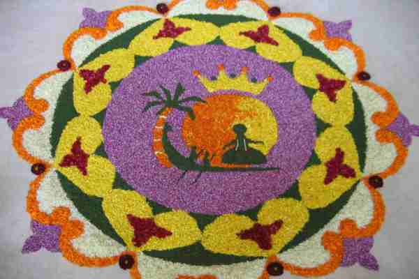 Easy Pookalam Designs for Onam Festival