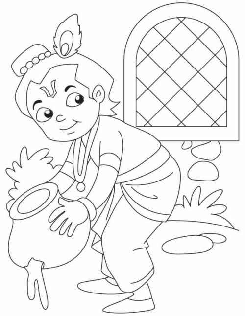 Janmashtami images for drawing