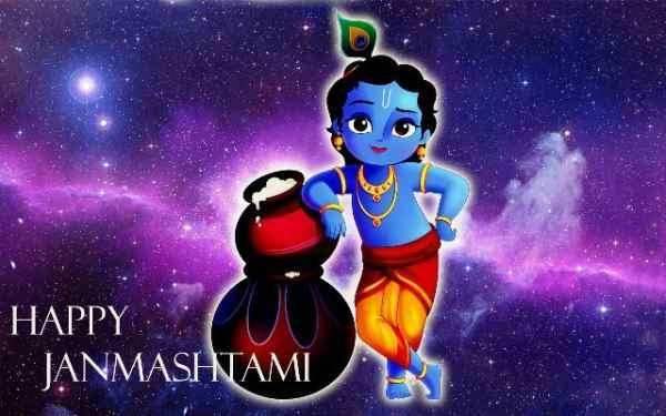 Krishna janmashtami 3d wallpaper