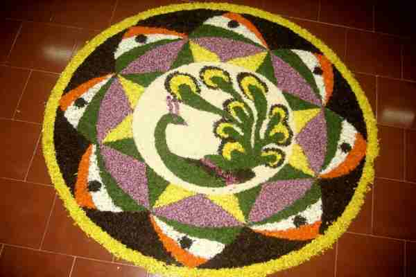onam rangoli designs with dots