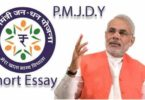 pradhan mantri jan dhan yojana essay in hindi