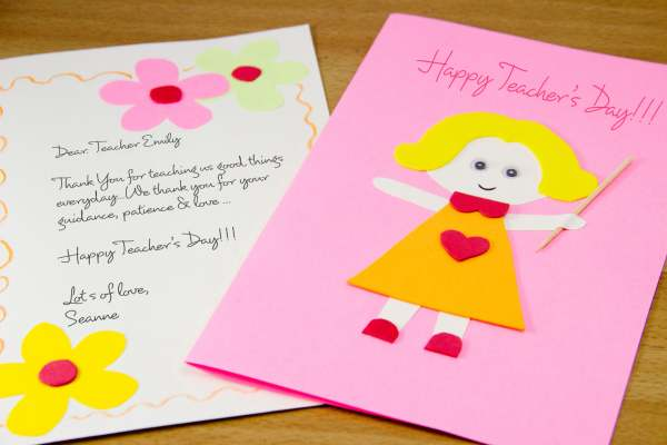 Card Making for Teachers Day