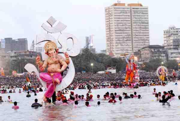 Ganesh visarjan vidhi in marathi