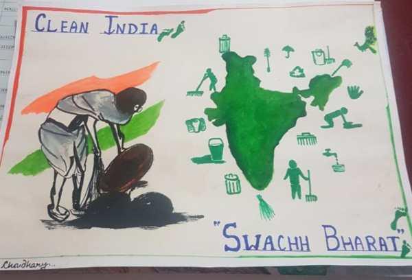Swachh bharat drawing