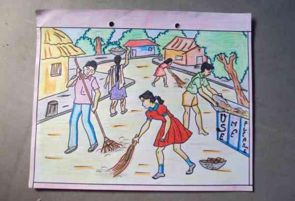 swachh bharat poster making