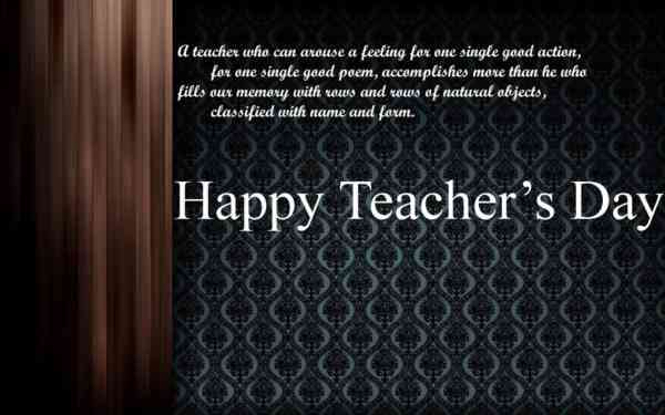 Teachers Day Message Card