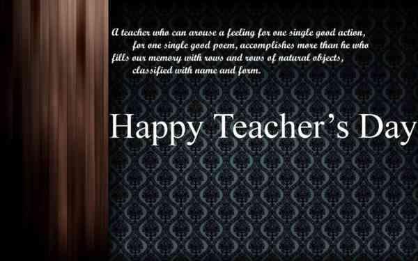 Teachers Day Message Card