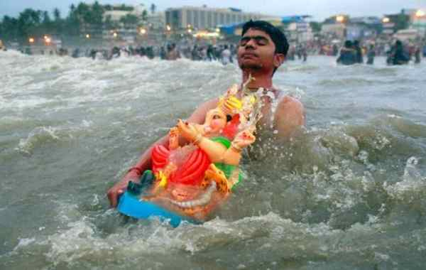 Ganesh Visarjan Status in Hindi