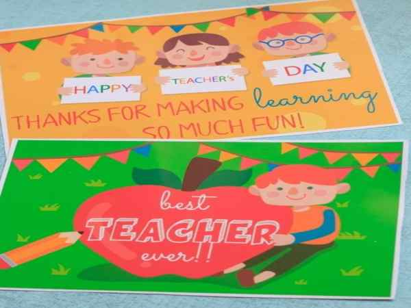 teachers day card handmade