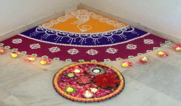 Diwali home rangoli