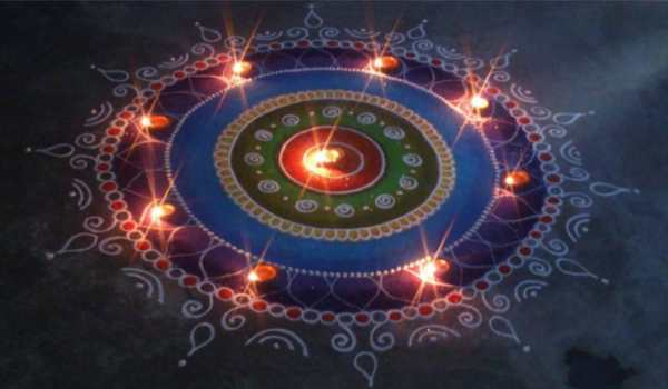 Diwali rangoli photo