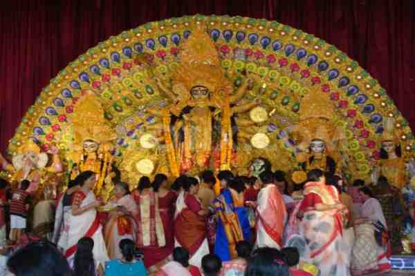 Durga puja pandal photo download