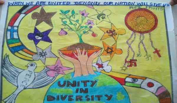 Rashtriya Ekta Diwas par painting