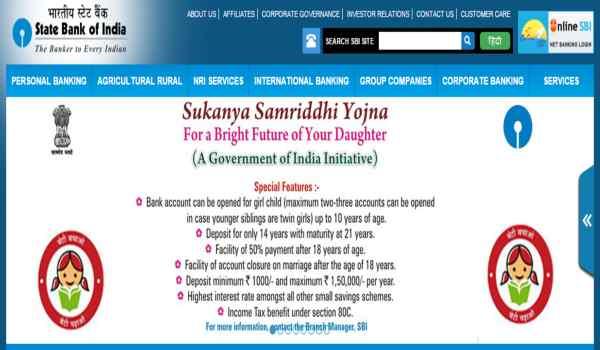 Sukanya samriddhi yojana account opening