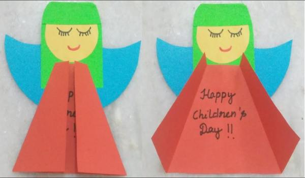 Children's day greeting card making