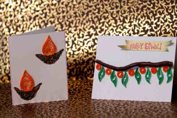 DIY Diwali Greeting Card Making Idea
