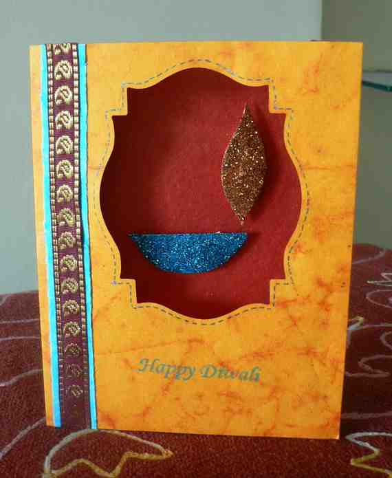 Diwali greeting card handmade