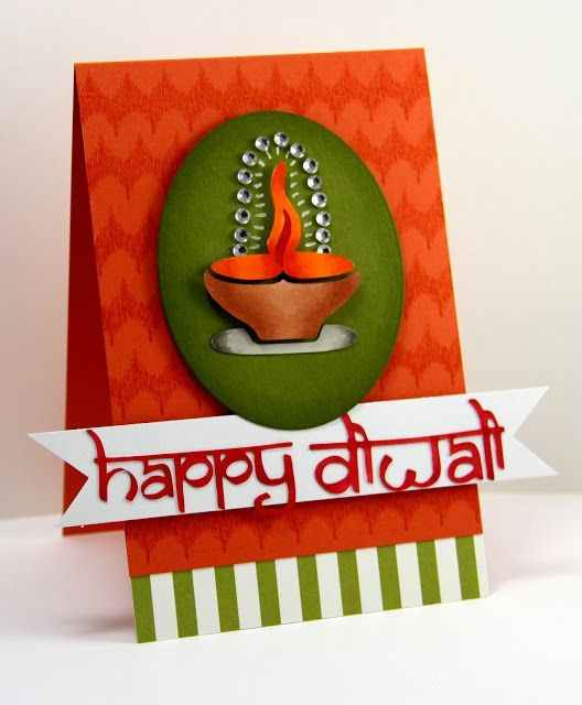 Diwali greeting card making ideas