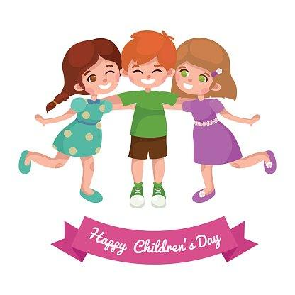 Greeting card for children's day