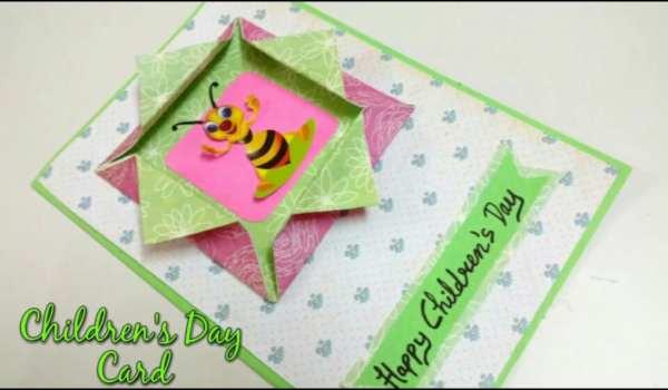 Handmade children's' day greeting cards