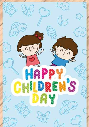 Happy children's day greeting cards