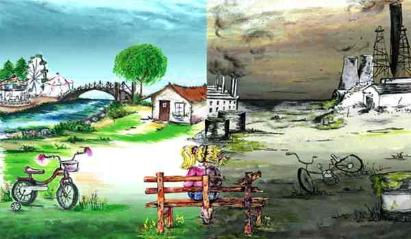राष्ट्रीय प्रदूषण नियंत्रण दिवस पर चित्रकला