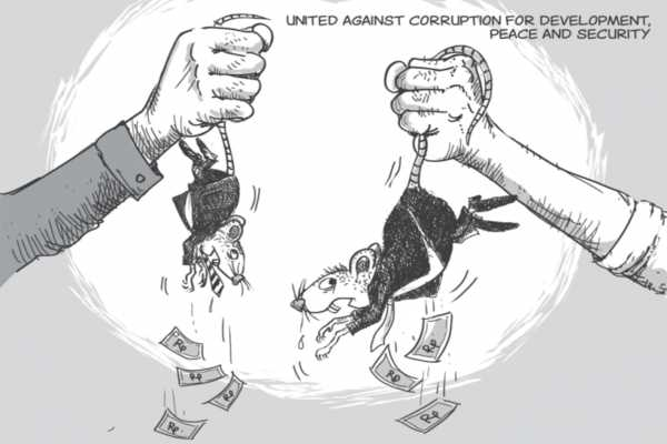 Anti corruption day drawing