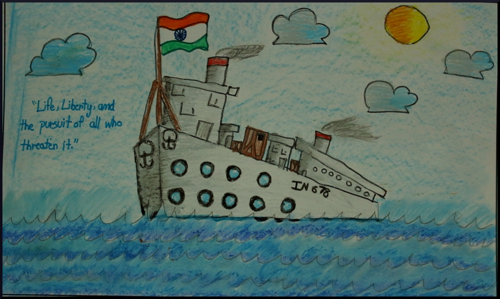 Indian navy day drawing hd