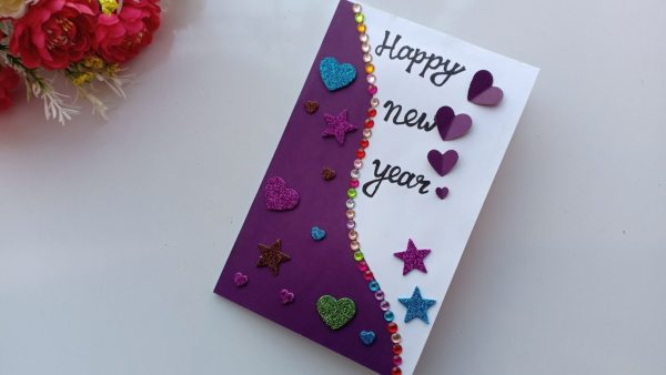 New year card making ideas