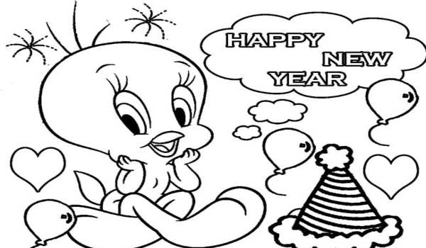 New year drawing for students