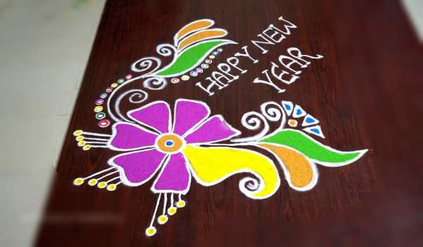 New year rangoli design images