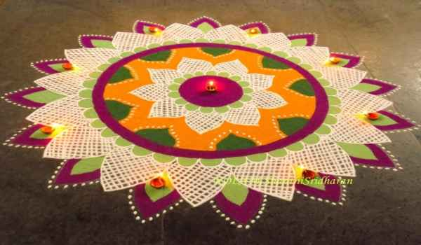 New year rangoli designs with dots