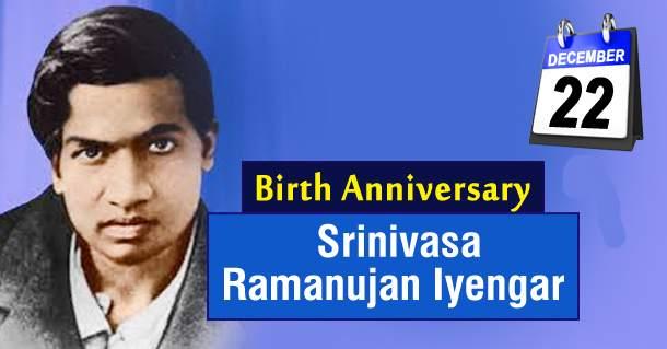 Srinivasa Ramanujan Images